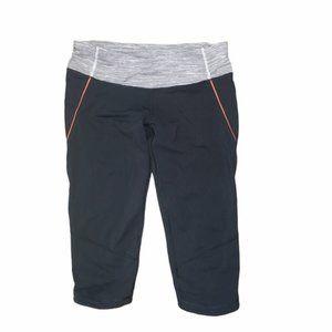LULULEMON ATHLETICA Charcoal/Orange Crop Pants 6